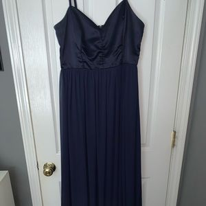 USED ONCE Prom/Formal Navy Blue Dress